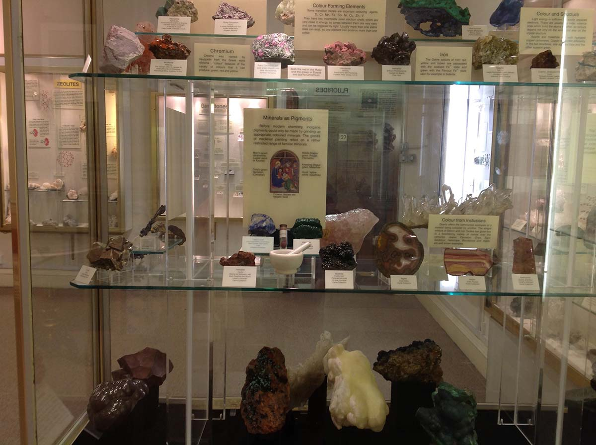 Mineral Gallery at the Sedgwick Museum
