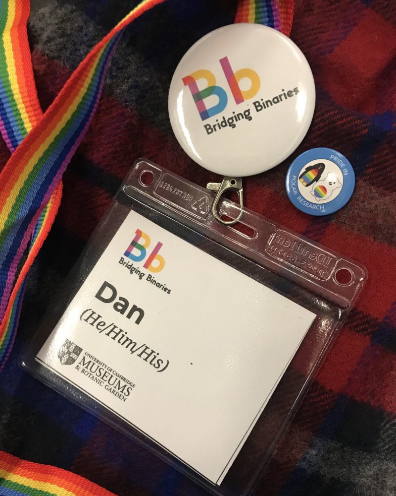 Dan's volunteer badges