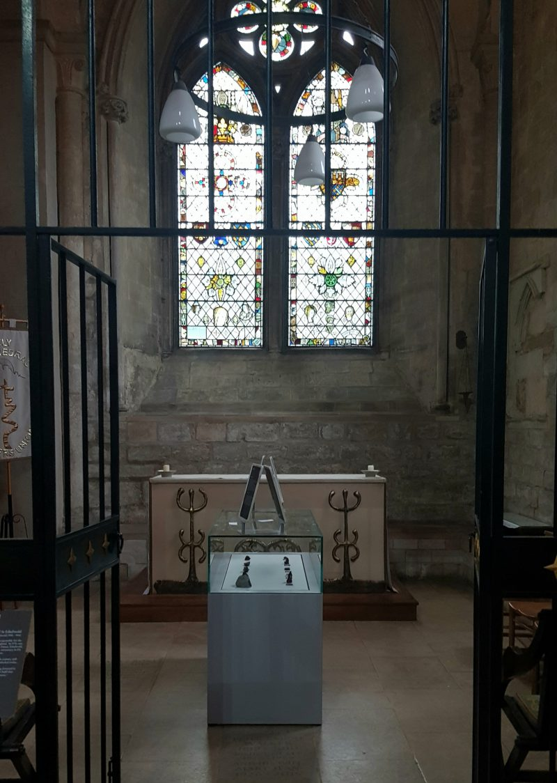 meteorites on display in St Dunstan's chapel