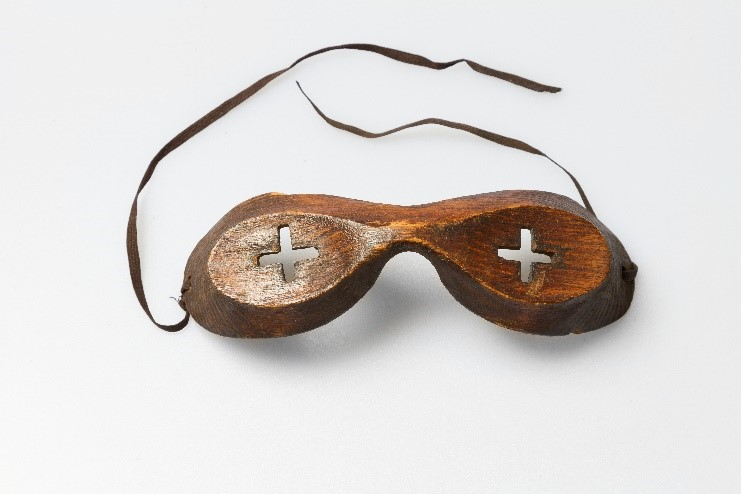 wooden goggles