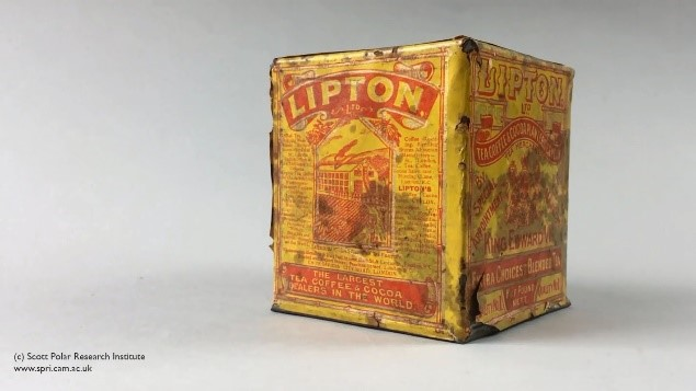yellow lipton's tea tin