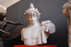Bust of Antinous in the Museum of Classical Archaeology