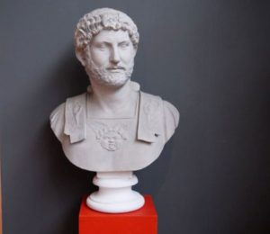 Bust of Hadrian in the Museum of Classical Archaeology