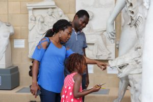 A Family in the Museum of Classical Archaeology