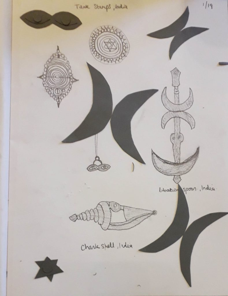 Drawing completed by an Arts and Minds participant