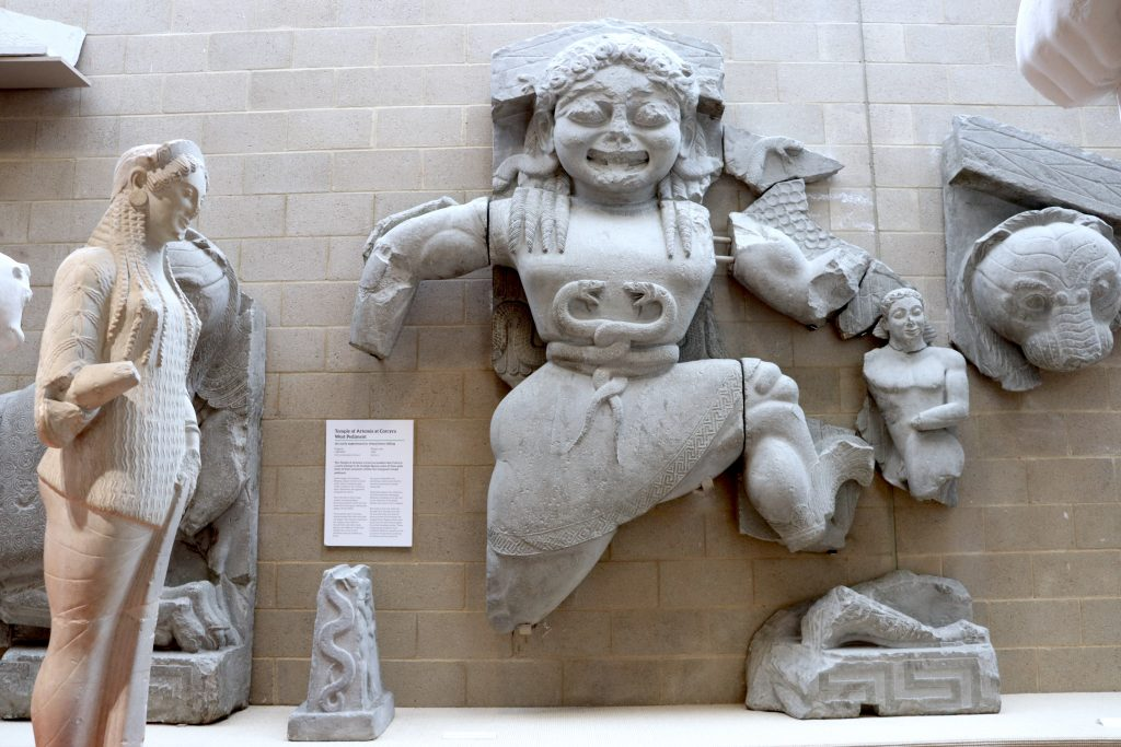 west pediment from the Temple of Artemis at Corcyra on Corfu