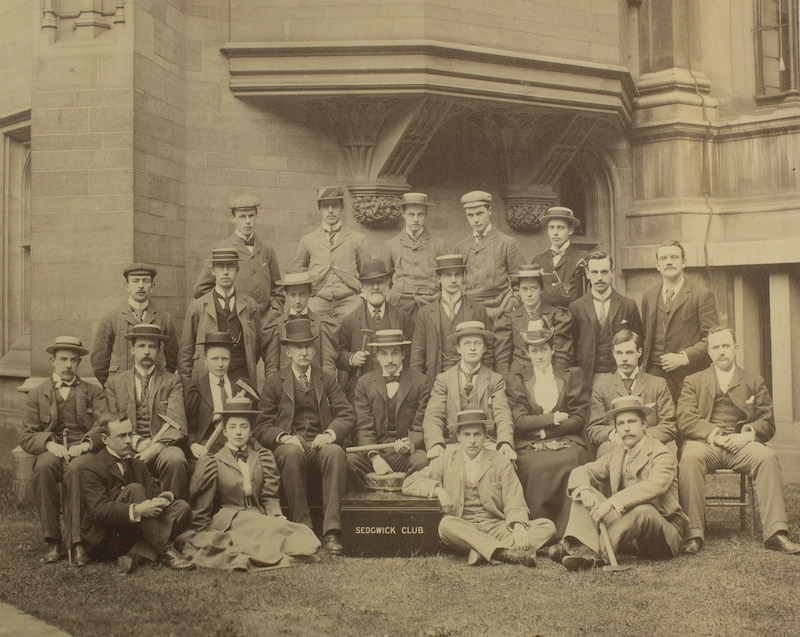 The first formal Sedgwick Club photograph to include women, 1897 (ref. SGWC 04).