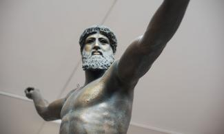 A cast of Zeus found in the museum