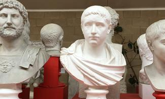 Roman busts at MOCA