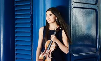 Savitri Grier with violin