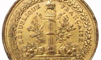 Image: Gold sovereign of Queen Elizabeth I (1558-1603) struck at the Tower of London 1584-7