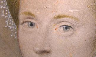 Image: Isaac Oliver, Unknown lady (detail), c.1595-1600