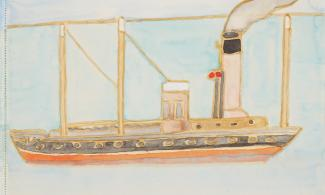 Bryan Pearce painting of a ship