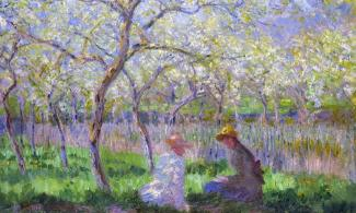 Springtime painted by Claude Monet in 1886
