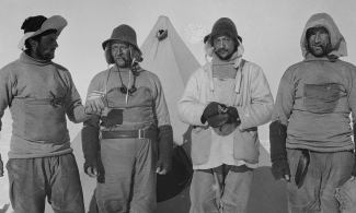 Four Antarctic explorers