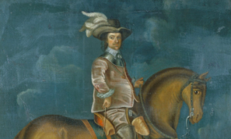 Painting of Oliver Cromwell on horseback