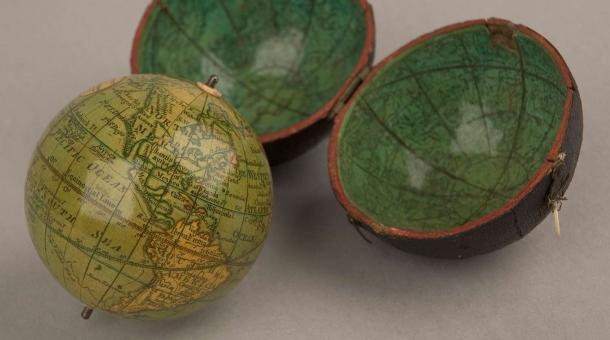 Globes on display at the whipple