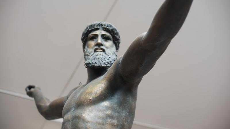 A cast of Zeus from the museum collection