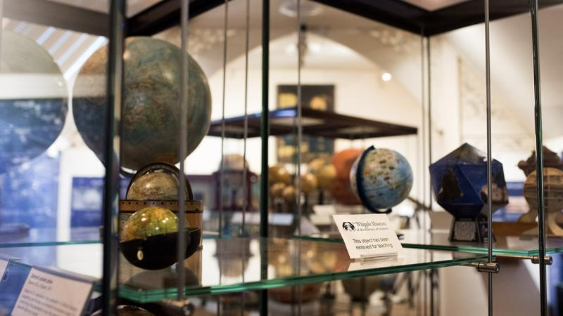 The globe gallery at the Whipple Museum
